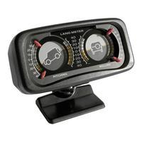 1078140 Inbouwmeter (auto) Hellingsmeter Geel