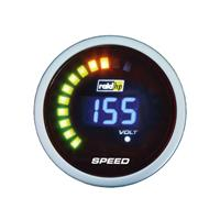 raidhp Raid hp 660509 Kfz Einbauinstrument Tachometer NightFlight Digital Blue Blau, Weiß 52mm X46131