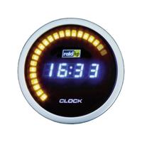 raid hp 660510 Inbouwmeter (auto) Quarzklok digitaal NightFlight Digital Blue Blauw, Wit 52 mm