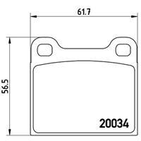 Bremsbelagsatz, Scheibenbremse | BREMBO (P 59 001)