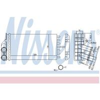 Wärmetauscher, Innenraumheizung | NISSENS (71157)