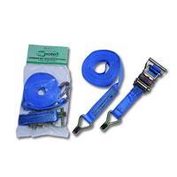 LoadLok 14002615 Spanband met ratelgesp en haken - Blauw - 6 x 35mm