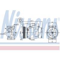 Kompressor, Klimaanlage   NISSENS (89072)