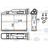 HELLA Wärmetauscher 8FH 351 333-204 Plattenwärmetauscher,Heizungskühler BMW,5 E39,5 Touring E39,X5 E53