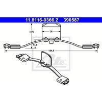 ATE Feder, Bremssattel 11.8116-0366.2  VOLVO,XC90 I,S60 I,S80 I TS, XY,XC70 CROSS COUNTRY