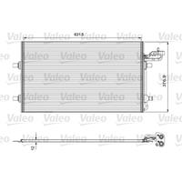 Kondensator, Klimaanlage | Valeo (814324)
