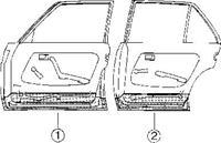 mercedes-benz Plaatwerkdeel Cedes 123 76-.onderkd 4 D