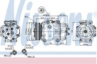 Kompressor, Klimaanlage   NISSENS (89143)