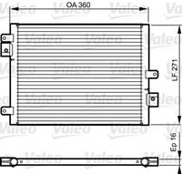 Kondensator, Klimaanlage   Valeo (814167)