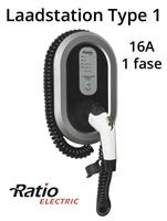 Ratio EV Laadstation type 1, 16A, laadkabel spiraal