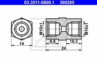 Adapter, Bremsleitung ATE 03.3511-0800.1