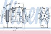 Compressor, airconditioning NISSENS, 3-polig