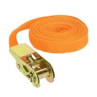 Carpoint spanband met ratel 25 mm 3 meter 500 kg oranje