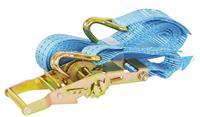 Carpoint ratelspanband met haken 38 mm 5 meter 1000 kg blauw