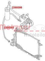 Lage drukleiding, airconditioning METZGER