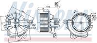 Interieurventilatie NISSENS, 2-polig, 130 mm