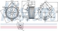 Interieurventilatie NISSENS, 2-polig, 146 mm