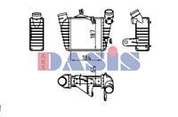 Intercooler, inlaatluchtkoeler AKS Dasis