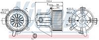 Interieurventilatie NISSENS, 2-polig, 120 mm