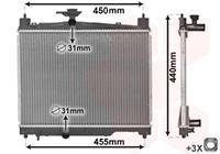 vanwezel VAN WEZEL Wasserkühler 53002251 Kühler,Motorkühler TOYOTA,YARIS SCP1_, NLP1_, NCP1_