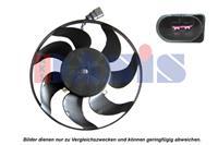 Koelventilatorwiel AKS Dasis, 295 mm, 12 V
