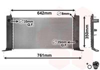 vanwezel VAN WEZEL Wasserkühler 17002243 Kühler,Motorkühler FIAT,STILO 192,STILO Multi Wagon 192