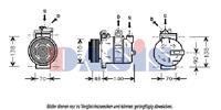 Compressor, airconditioning AKS Dasis