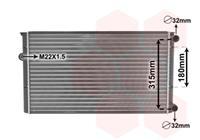 vanwezel VAN WEZEL Wasserkühler 58002105 Kühler,Motorkühler VW,GOLF III 1H1,GOLF III Cabriolet 1E7,GOLF III Variant 1H5,VENTO 1H2