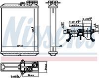 NISSENS Wärmetauscher 707102 Plattenwärmetauscher,Heizungskühler VOLVO,V70 II SW,XC90 I,S60 I,S80 I TS, XY,XC70 CROSS COUNTRY
