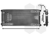vanwezel VAN WEZEL Wasserkühler 58002041 Kühler,Motorkühler VW,GOLF II 19E, 1G1,GOLF I Cabriolet 155,SCIROCCO 53B,JETTA II 19E, 1G2, 165
