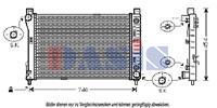 Kühler, Motorkühlung   AKS Dasis (121400N)