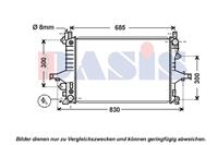 Kühler, Motorkühlung | AKS Dasis (220001N)