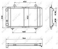 Kühler, Motorkühlung | NRF (52035)