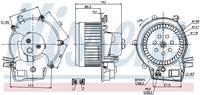 Interieurventilatie NISSENS, 2-polig, 147 mm