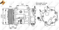 NRF Kompressor 32240 Klimakompressor,Klimaanlage Kompressor FIAT,PEUGEOT,CITROËN,ULYSSE 179AX,207 WA_, WC_,307 SW 3H,207 CC WD_,307 CC 3B,407 SW 6E_