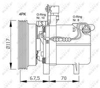 Compressor, airconditioning NRF