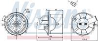 Interieurventilatie NISSENS, 2-polig, 135 mm
