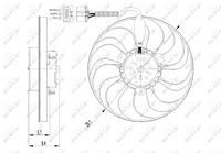 Koelventilatorwiel NRF, 3-polig, 12 V