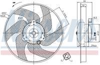 Koelventilatorwiel NISSENS, 2-polig, 320 mm, 12 V