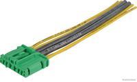 Kabelreparatieset, regeling (verwarming,ventilatie) HERTH+BUSS ELPARTS, 6-polig, Aan passagierszijde