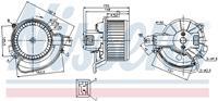 Interieurventilatie NISSENS, 2-polig, 133 mm