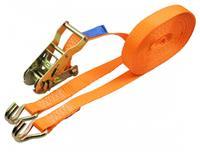 Carpoint ratelspanband met haken 25 mm 3 meter 350 kg oranje