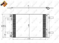 Kondensator, Klimaanlage 'EASY FIT' | NRF (350323)