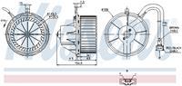 Interieurventilatie NISSENS, 2-polig, 145 mm