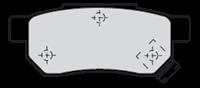 VALEO Bremsbeläge 301053 Bremsklötze,Scheibenbremsbelag HONDA,ROVER,MG,JAZZ II GD,JAZZ III GE,CIVIC VI Hatchback EJ, EK,CIVIC VI Fastback MA, MB