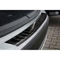 Zwart RVS Achterbumperprotector BMW X1 (F48) Facelift 2015-RIbs'