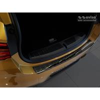 Zwart RVS Achterbumperprotector BMW X2 F39 M-Pakket 2018-Ribs'