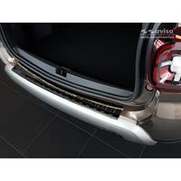 Zwart RVS Achterbumperprotector Dacia Duster II 2018-Ribs'
