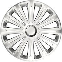 4-Delige Wieldoppenset Trend Silver 15 inch