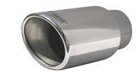 Simoni Racing Uitlaatsierstuk Ovaal/Schuin RVS - Diameter 122x117mm - Lengte 210mm - Montage 77mm